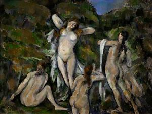 Four Bathers, 1888-1890 by Paul Cézanne