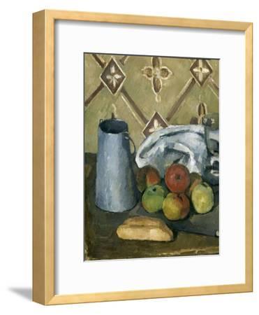 Fruits, serviette et boîte à lait