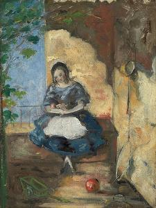 Girl; Fillette, 1872-3 by Paul Cézanne
