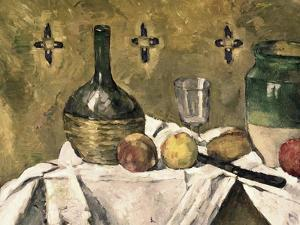 Glass and Fruit Flask by Paul Cézanne