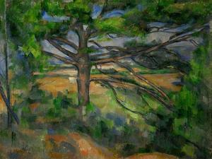 Grand Pin et Terres rouges, 1890-95 Large pine tree and red earth. Canvas, 72 x 91 cm. by PAUL CEZANNE