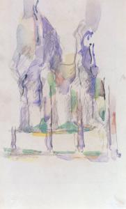 Groupe d'Arbres, c.1895-1900 by Paul Cézanne