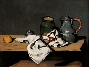 Jar, Coffee Pot and Fruit by Paul Cézanne