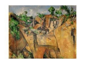 La Carriere de Bibemus-The quarry at Bibemus, Provence, France. Around 1895 Canvas by PAUL CEZANNE