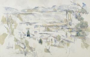 La cathédrale d'Aix by Paul Cézanne