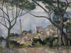 La mer à l'Estaque by Paul Cézanne
