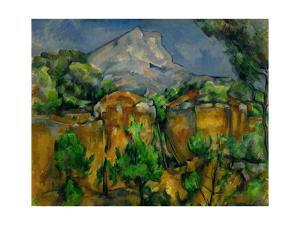 La Montagne Sainte Victoire vue de Bibemus, 1897. by PAUL CEZANNE