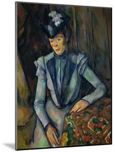 Lady in Blue, 1900-1904 by Paul Cézanne