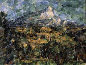 Landscape in Aix (Mont Sainte-Victoir), C1906 by Paul Cézanne