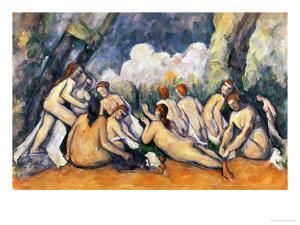 Large Bathers II, 1900-1906 by Paul Cézanne