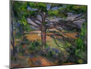 Large Pine Tree and Red Earth, 1890-1895 by Paul Cézanne