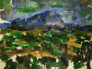 Le Mont Sainte Victoire vu des Lauves-Mont Sainte Victoire seen from Les Lauves. by Paul Cezanne