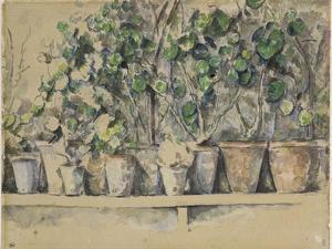 Les pots de fleurs by Paul Cézanne