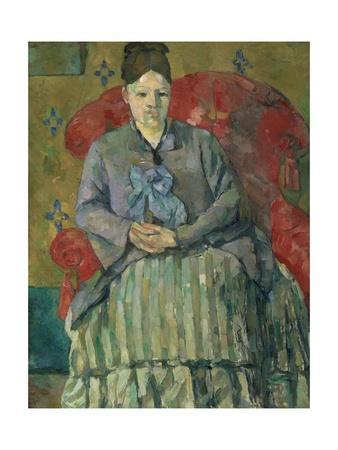 Madame Cézanne in a Red Armchair by Paul Cézanne