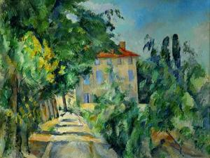 Maison au toit rouge-House with a red roof, 1887-90 Canvas, 73 x 92 cm. by PAUL CEZANNE