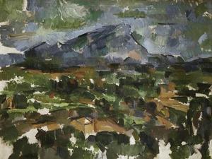 Mont Sainte Victoire Seen from Les Lauves, 1902/06 by Paul Cézanne