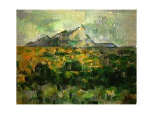 Montagne Sainte Victoire, 1885 Cezanne painted this mountain. by PAUL CEZANNE