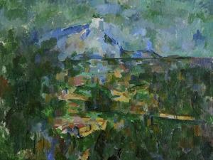 Mount St, Victoire from Les Lauves, 1904-06 by Paul Cézanne