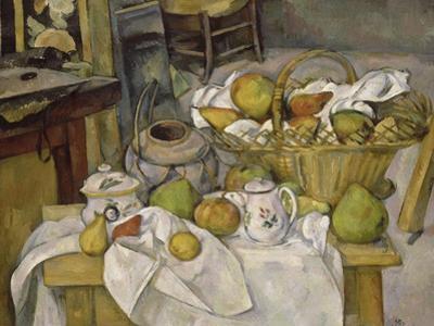 Nature morte au panier ou La Table de cuisine by Paul Cézanne