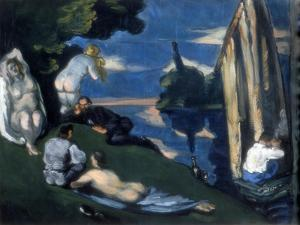 Pastoral, or Idyll, 1870 by Paul Cézanne