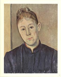 Portrait Of Mme Cezanne by Paul Cezanne