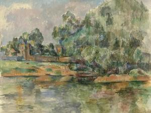 Riverbank, c.1895 by Paul Cezanne
