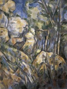 Rocks Near the Caves Below the Chateau Noir by Paul Cézanne