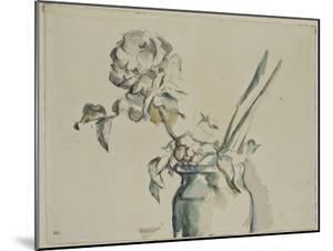 Roses dans un vase vert by Paul Cézanne