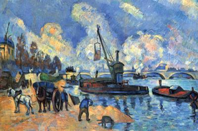 Seine at Bercy by Paul Cézanne