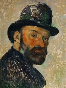Self-Portrait with Bowler Hat (Sketch), 1885-1886 by Paul Cézanne