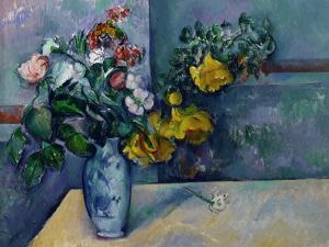 Still Life: Flowers in a Vase by Paul Cézanne