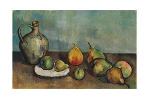'Still life, pitcher and fruit', 1894 by Paul Cezanne