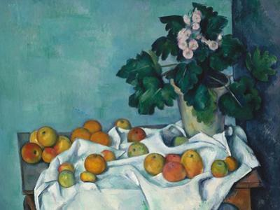 Still Life with Apples and a Pot of Primroses, c.1890 by Paul Cezanne