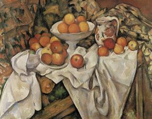 Still Life with Apples and Oranges, c.1895-1900 by Paul Cézanne