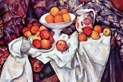 Still Life with Apples and Oranges by Paul Cézanne