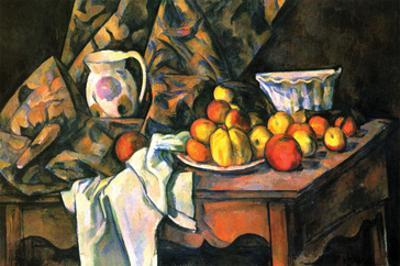 Still Life with Apples and Peaches by Paul Cézanne
