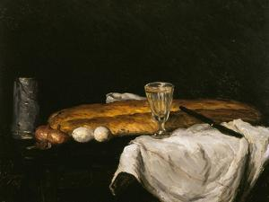Still Life with Bread and Eggs, 1865 by Paul Cézanne