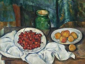 Still Life with Cherries and Peaches, 1885-1887 by Paul Cézanne