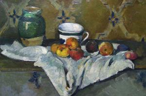 Still Life with Cup, Jar and Apples by Paul Cézanne