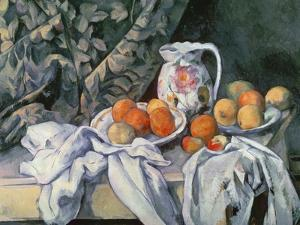 Still Life with Drapery, c.1899 by Paul Cezanne
