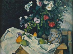 Still Life with Flowers and Fruit, 1889-1890 by Paul Cézanne