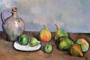 Still Life with Pitcher and Fruit, 1885-87 by Paul Cézanne