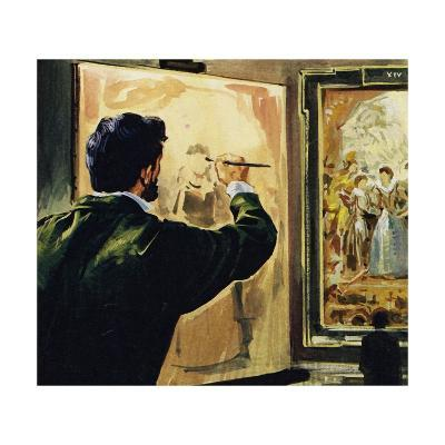 Paul Cezanne Studied and Even Copied the Works of Rubens in the Louvre Museum--Giclee Print