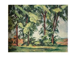Tall Trees at the Jas de Bouffan, c1883, (1929) by Paul Cezanne
