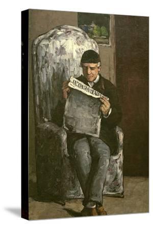 """The Artist's Father, Reading """"L'Événement"""", 1866"""