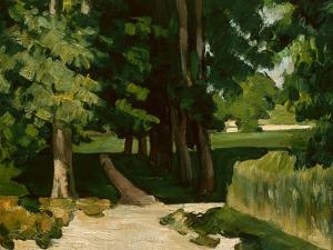 The Avenue at the Jas De Bouffan, 1869-1870 by Paul Cézanne