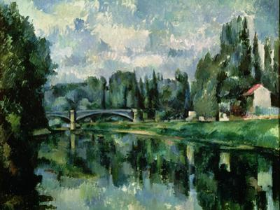 The Banks of the Marne at Creteil, circa 1888 by Paul Cézanne