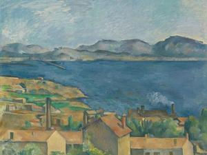 The Bay of Marseilles, Seen from L'Estaque, Ca 1885 by Paul Cézanne