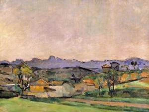 The Chaine De L'Etoile with the Pilon Du Roi, C.1878-79 by Paul Cézanne