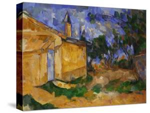 The Cottage of M. Jourdan, 1906 by Paul Cézanne